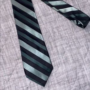 Green Stripped Tie